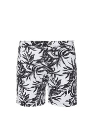 Onia The Calder 7.5' Printed Swim Shorts White Multi