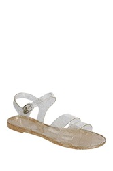 Refresh Cosma Double Strap Sandal Metallic