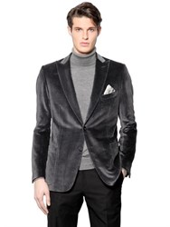 Brioni Houndstooth Cotton And Silk Velvet Jacket