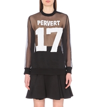 Givenchy Pervert Sequin Embellished Chiffon Top Blk