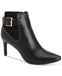 Calvin Klein Women's Jozie Studded Pointed Toe Booties Women's Shoes Black