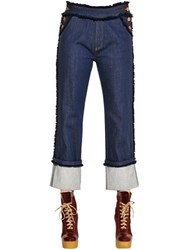 See By Chloe See By Chloe Fringed Cotton Denim Jeans