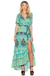 Spell And The Gypsy Collective Aloha Fox Wrap Dress Green