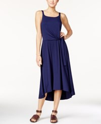 Maison Jules Tie Front Midi Dress Only At Macy's Blue Note