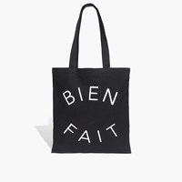 Madewell The Reusable Bien Fait Tote True Black Map