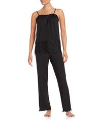 Joe's Jeans Lace Accented Camisole And Pants Set Black