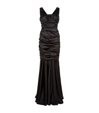 Dolce And Gabbana Ruched Satin Gown Female Black