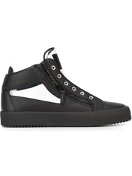 Giuseppe Zanotti Design Transparent Panel Hi Op Sneakers Black