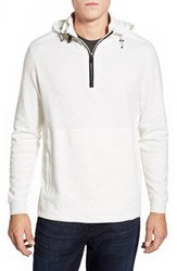 Men's Bugatchi Hooded Quarter Zip Sweater White
