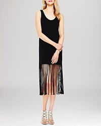 Two By Vince Camuto Fringe Hem Tank Dress Rich Black