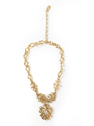 Yves Saint Laurent Vintage Arabesque Necklace Metallic