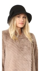 Kate Spade Flat Top Cloche Hat Black