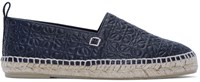 Loewe Black Leather Anagram Espadrilles