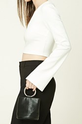 Forever 21 Faux Leather Mini Clutch Black