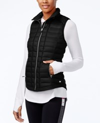 Tommy Hilfiger Quilted Zippered Vest Black