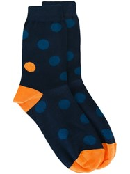 Paul Smith Spotted Socks Blue