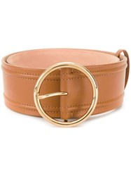 Agnona Round Buckle Belt Brown
