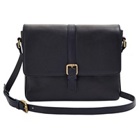 Joules Padstow Leather Shoulder Bag Navy