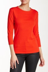 Lilla P Classic 3 4 Sleeve Crew Neck Tee Red