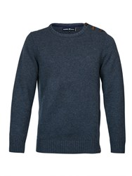 Raging Bull Button Up Crew Neck Sweater Navy
