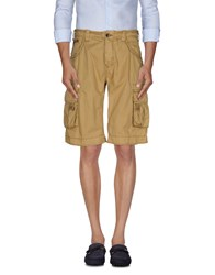 Armani Jeans Trousers Bermuda Shorts Men Camel