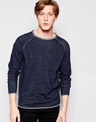 Jack And Jones Jack And Jones Raglan Crew Neck Knit Navy