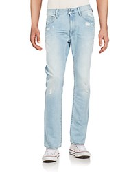 G Star Deconstructed Straight Leg Jeans Light Aged