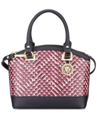 Anne Klein New Recruits Mini Dome Satchel Cherry Multi Black