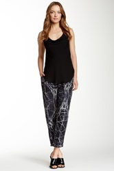 Haute Hippie Skinny Printed Silk Trouser Black