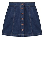 New Look Petite Denim Skirt Dark Blue
