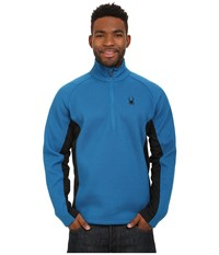 Spyder Outbound Half Zip Mid Weight Core Sweater Concept Blue Black Concept Blue Men's Sweater