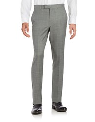 Kenneth Cole Wool Blend Straight Leg Pants Grey