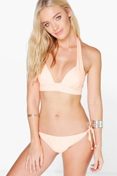Boohoo Mix And Match Tie Sider Brief Peach