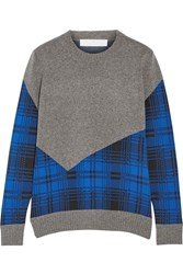 Thakoon Paneled Knitted Sweater Gray