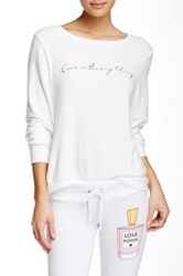 Wildfox Couture Love Is Everything Baggy Beach Jumper White