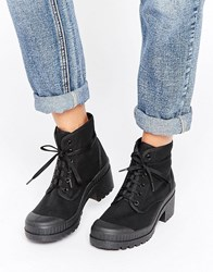Asos Rene Lace Up Ankle Boots Black
