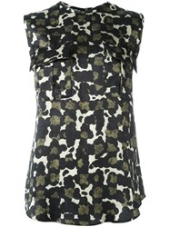 Dsquared2 Camouflage Print Top Multicolour