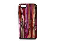 Hybrid Hardshell Case For Iphone 5 Rosewood Grain Cell Phone Case Red