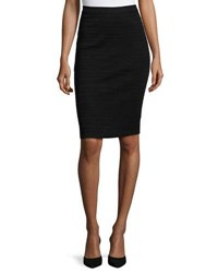 Ming Wang Ottoman Knit Pencil Skirt Blk
