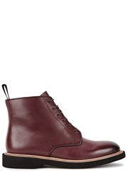 Paul Smith Patrick Burgundy Leather Boots