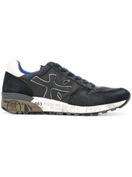Premiata White 'Mick' Sneakers Black