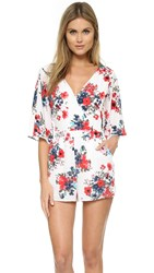 Cupcakes And Cashmere Kirei Floral Romper Poppy Print