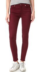 7 For All Mankind The Ankle Skinny Jeans Cranberry