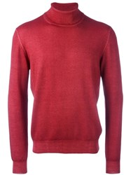 La Fileria For D'aniello Turtleneck Fine Knit Jumper Red