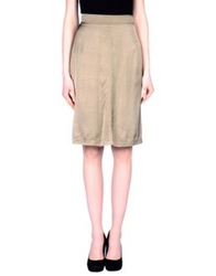 Gianfranco Ferre' Knee Length Skirts Khaki