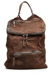 Giorgio Brato Leather Backpack Brown