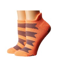 Adidas Studio 2 Pack No Show Socks Sun Glow Deepest Space Women's No Show Socks Shoes Orange