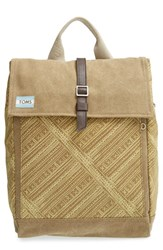Toms 'Trekker' Waxed Canvas Backpack Green Olive