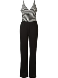 Osklen Striped Top Jumpsuit Black