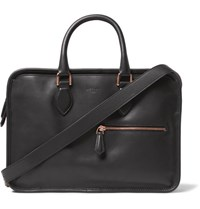Berluti Un Jour Mini Polished Leather Briefcase Black